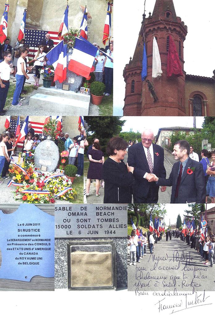 Jean-Philippe PLANTE (ancien maire, à l'origine des cérémonies de commémoration du 6 juin, a ramené le sable de la plage d'Omaha Beach le jour du 60ème anniversaire, le 6 juin 2004), le Consul des Etats Unis et la députée de notre circonscription.