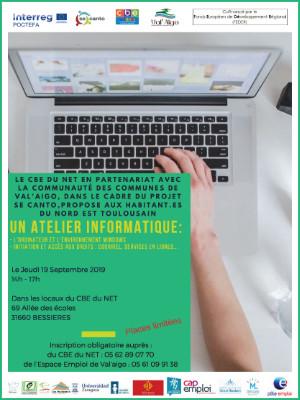 CBE du NET  : Atelier Informatique le 19 septembre