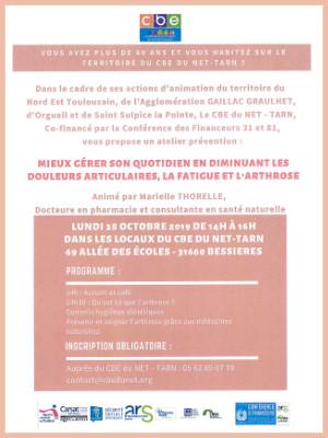 CBE du NET-TARN : Atelier Spécial Senior le 28 octobre